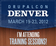 DrupalCon Denver 2012 - I'm Attending Training Sessions!