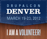 DrupalCon Denver 2012 - I am a Volunteer!